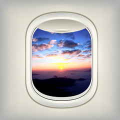 Beautiful View for Window Airplane