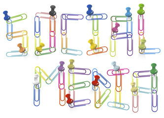 Vector of Social Media Paper Clips