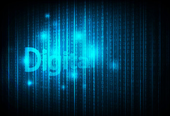 Digital display English code, vector