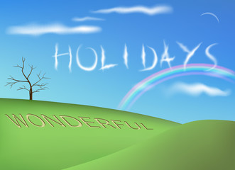 Holiday Nature Background