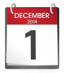 Calendar the First of December