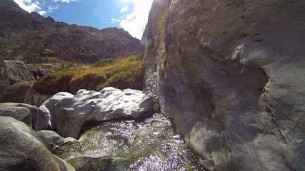 roccia levigata dall'acqua