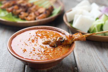Delicious chicken sate