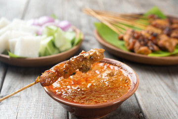 Delicious chicken satay