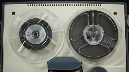 Reel to reel retro tape recorder.