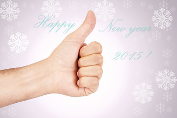 hand with new year