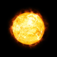 detailed sun in space