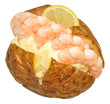 Baked Potato Filled With Prawns - 70247166