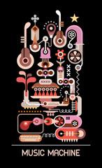 Music Machine vector illustration