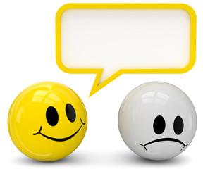 Smileys Aufheiterung Sprechblase