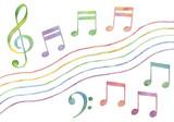 Fototapety カラフルな音符のバリエーション2