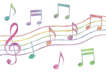 カラフルな音符のバリエーション3