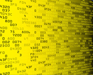 Yellow security background with HEX-code