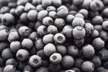Lots of of frozen blueberries