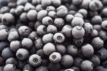 Lots of of frozen blueberries