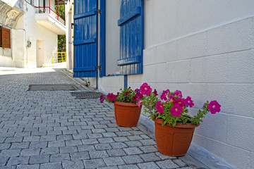 Beautiful white streets of Greece