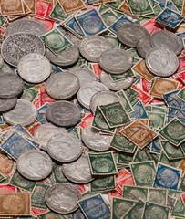 alte deutsche münzen u. briefmarken