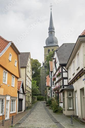canvas print picture Krämergasse in Werl, NRW, Deutschland
