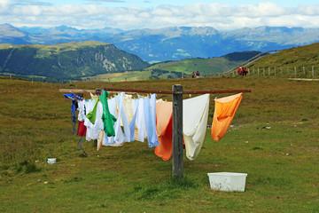 Waschtag in den Bergen