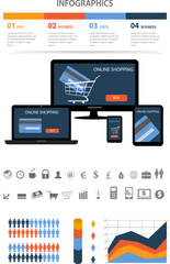 Shopping infographics elements