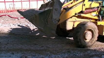 Bulldozer Carrying Sand