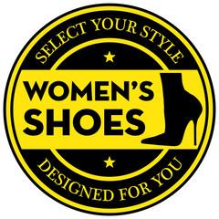 women shoes label