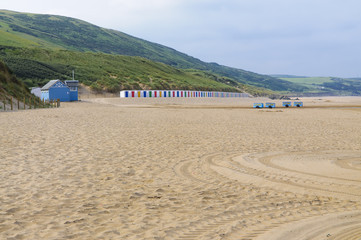 Woolacombe beach in the morning