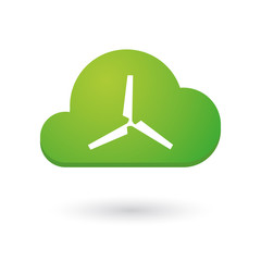 Cloud icon with a propeller