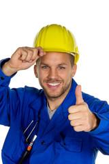 Handwerker mit Werkzeug