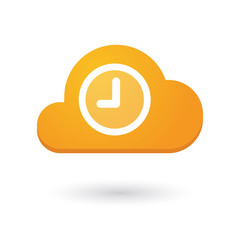 Cloud icon with a clock