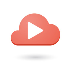 Cloud icon with a play sign
