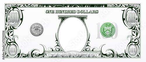 100 dollars bill. Cartoon money - 70250316