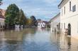 Leinwandbild Motiv Flooded street