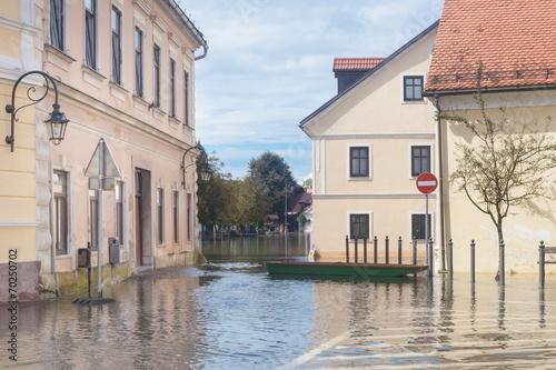 Flooded street - 70250702