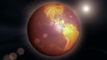 温暖化していく地球