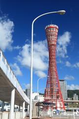 ポートタワーのある風景