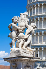 Pisa Duomo and The Fountain with Angels in Pisa