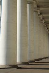 белые круглые колонны