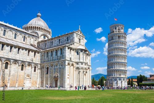 Wieża w Pizie i katedra na Piazza del Duomo