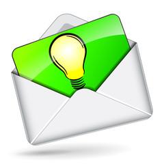Vector lightbullb in mail icon