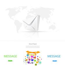 Infographics website template
