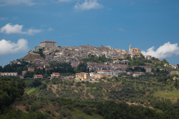 Beautiful historical Italian town constructed on the hill