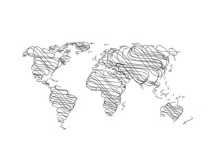 Hand sketch World Map
