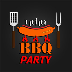 BBQ design card. Vector illustration. EPS 10
