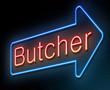 Butcher concept.