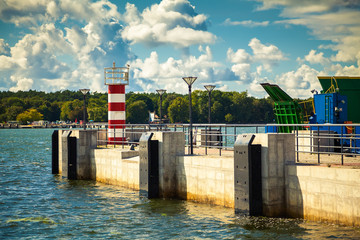 lighthouse in the port of Klaipeda
