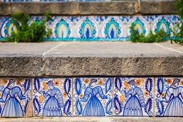 ceramic tiles on the steps