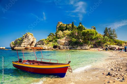 small boat for excursion - 70254557
