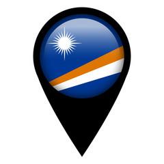 Flag pin illustration - Marshall Islands