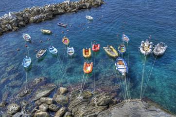 Riomaggiore's boats